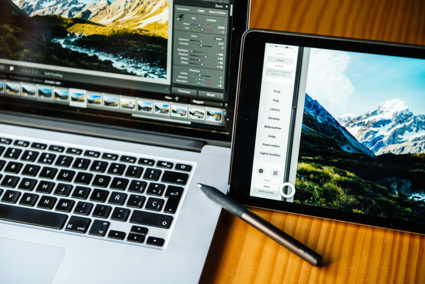 Using Astropad as a graphics tablet in Lightroom | David